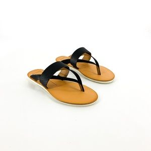 new | Dolce Vita Black Leather Nevin Thong Sandals